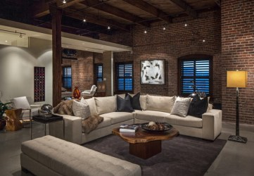 room industrial living interior penthouse designs downtown spectacular omaha contemporary interiors ne bedroom rooms source architectureartdesigns