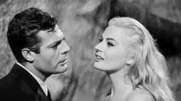 "Marcello Mastroianni and Anita Ekberg in ""La Dolce Vita"""
