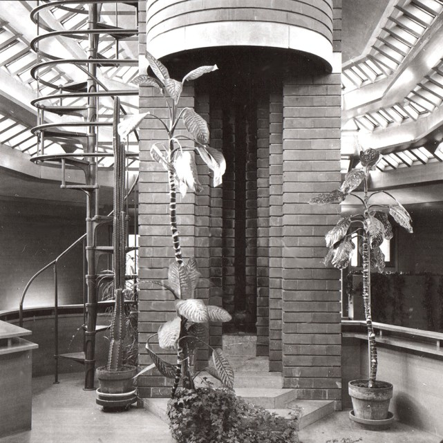 "Herbert F. Johnson House, ""Wingspread,"" Skylight, Windspread, WI, 1939. R&R Meghiddo, 1971, All Rights Reserved."
