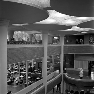 Johnson Wax Headquarters, Detail, Racine, WI, 1939. R&R Meghiddo, 1971, All Rights Reserved.
