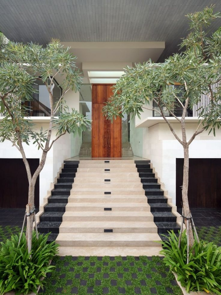 40 Modern Entrances Designed To Impress Architecture Beast | Staircase Design In Front Of House | Front Wall | Boundary Wall | Front Side | Indian Style | Outdoor