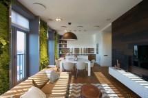 Modern Apartment Design Green Walls Svoya