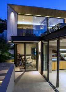Modern Hillside House Glass