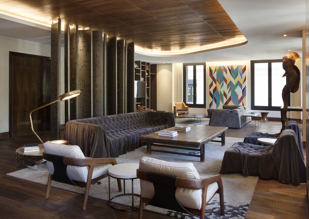 Wood in interior design Afrocontemporary apartment by
