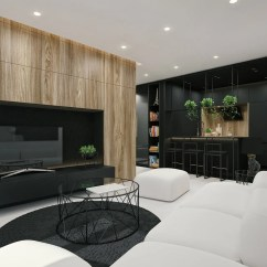 Design Ideas For Black And White Living Room Nice Designs Interior Modern Apartment By Id With Wood Texture In