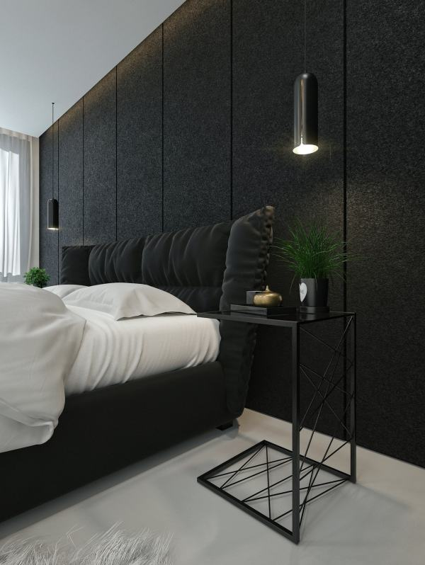 Black and White Bedroom Interior Design