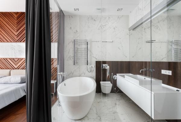 Glass Bathroom Walls In Modern Apartment Svoya