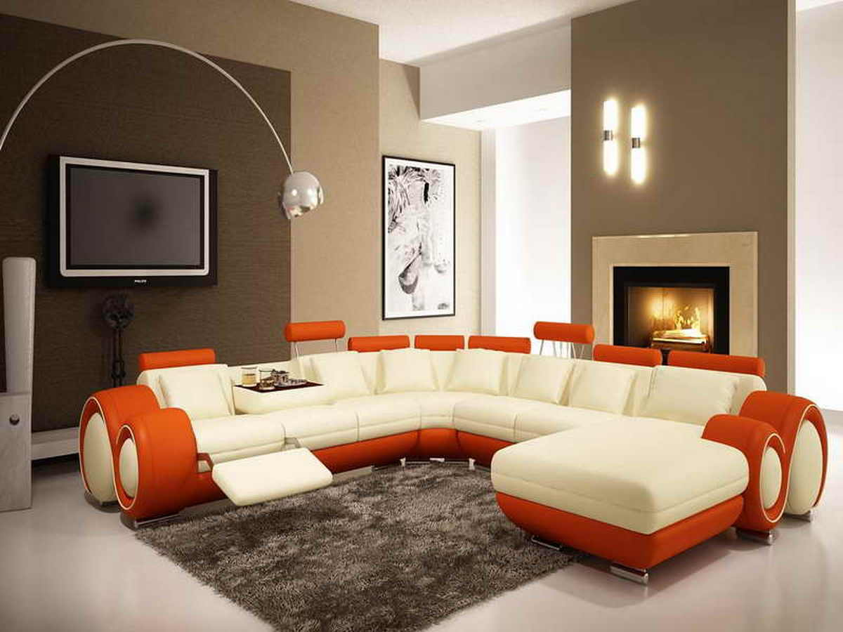 mesmerizing living room color schemes white walls | Brown Accent Wall Colors Living Room | ArchitectureIn