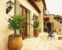 Decorate With Shutters Exterior Mediterranean With French Country House French Doors