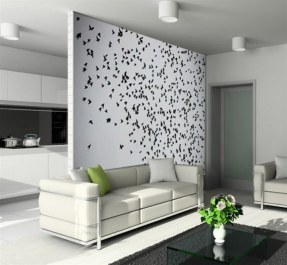 Living Room Wall Murals White Colour Ideas roseate design interiors