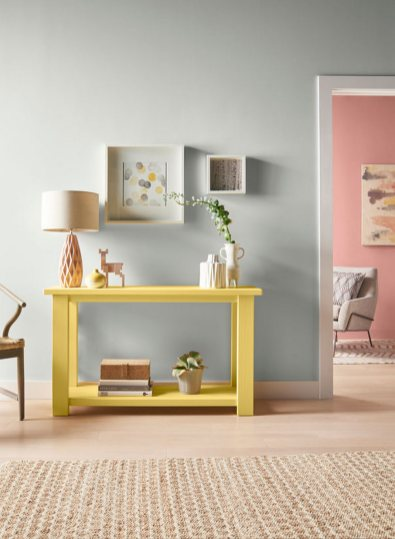 Misty Color Stories Such As rose And Mineral Gray Are Fused With energy From A Yellow Accent