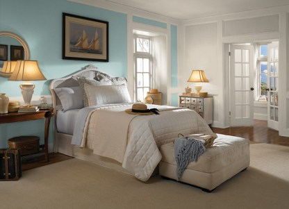 Polished Aqua Behr Bedroom Paint Color Trends For 2017