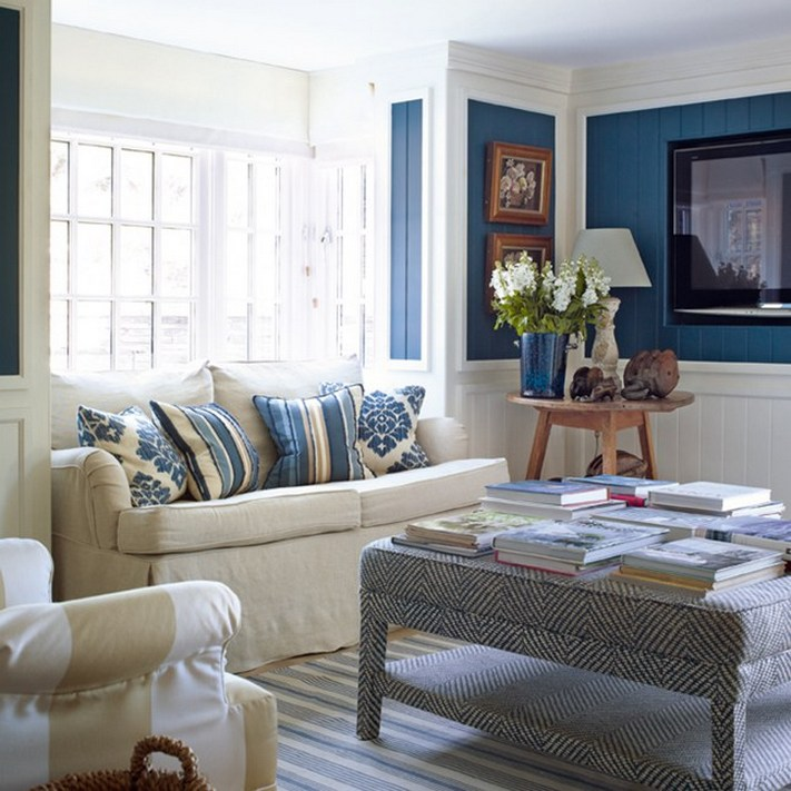 Small Living Room Ideas Blue And White Colour Combinations ...