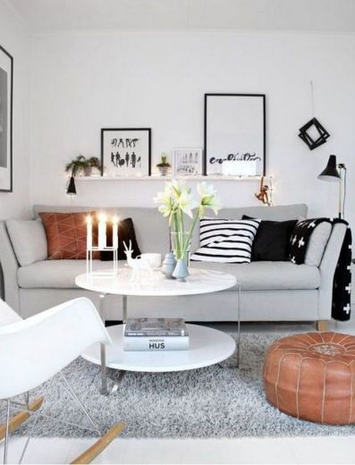 Charming Decorating Ideas For Small Living Room Ideas And Crisp White Painted