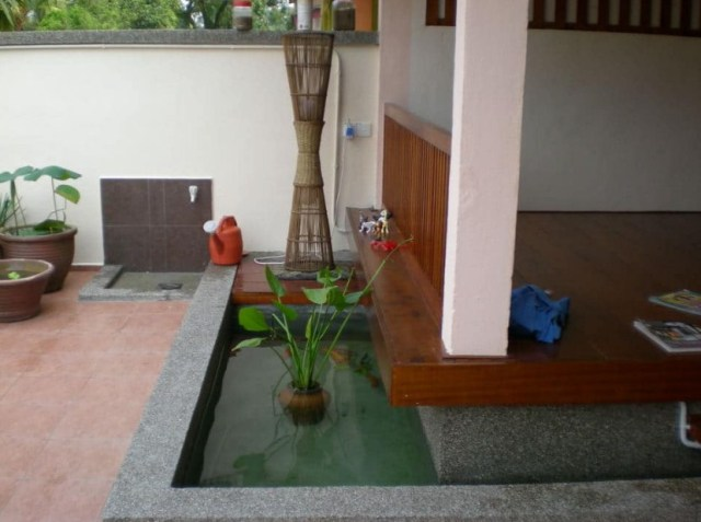 Small Fish Pond for Unique Terrace