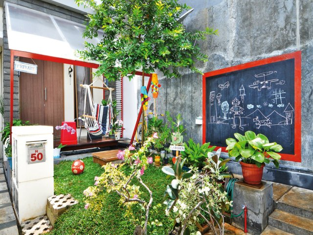 Terrace as a Playground For Childrens
