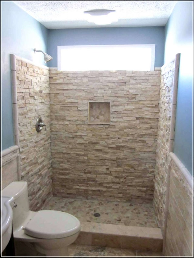 Minimalist Bathroom Without Screen