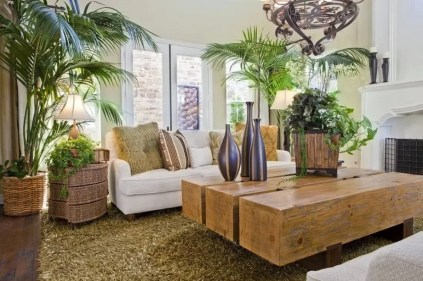 Amazing Green Earthy Natural Style Living Room