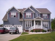 Astonishing Architecture Design And Had Two Garage Near Nice Porch Plus Grey Exterior House Paint Colors
