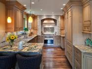 Combination Different Types Of Natural Stones for Warm And Enjoyable Kitchen