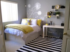 Extraordinary Ideas Small Decor Bedroom Home Spaces Ideas With Wallpaper