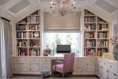 Home Library Design Ideas (60)