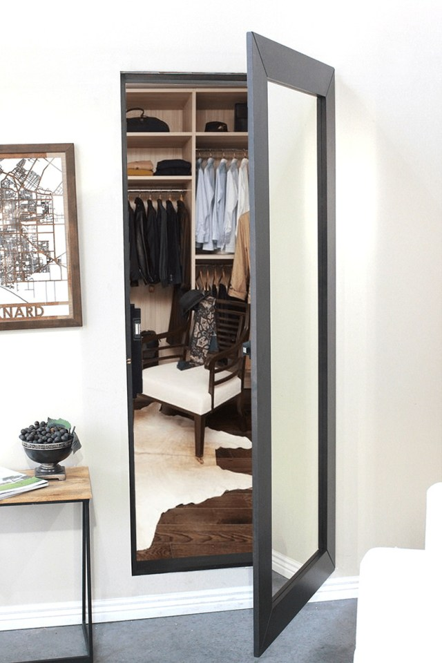 How To Add A Secret Room Or Hidden Room To Your House Secret Mirror Closet Door