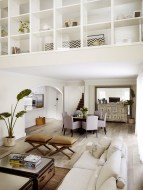 Living Room Natural Style With Wall Storage