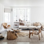 Living Room White Base With Natural Materials And A Mix Of Ethnic And Scandinavian Influences