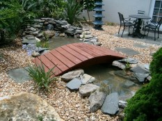 Mini Bridge For A Fish Pond
