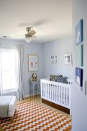 Navy And Light Blue Nursery, With A Touch Of A Bright Color