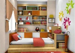 Planted Shelfs For Bedroom Design Ideas With Narrow Space