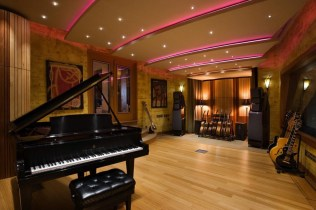 Private Music Room Design Ideas In The Home With Unique Ceiling