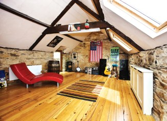 Private Music Studio At Home Being In The Attic Area