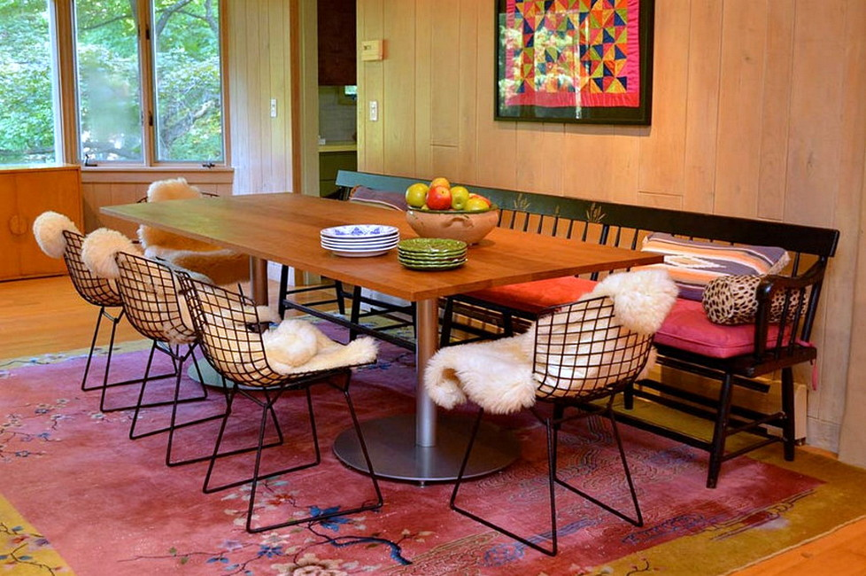 Small bohemian style dining room design architecturein for Small modern dining room