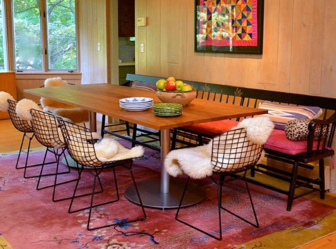 Small Modern Bohemian Style Dining Room Design