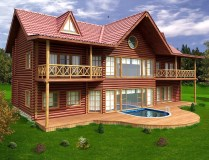 Swimming Pool For Wood Villa Design