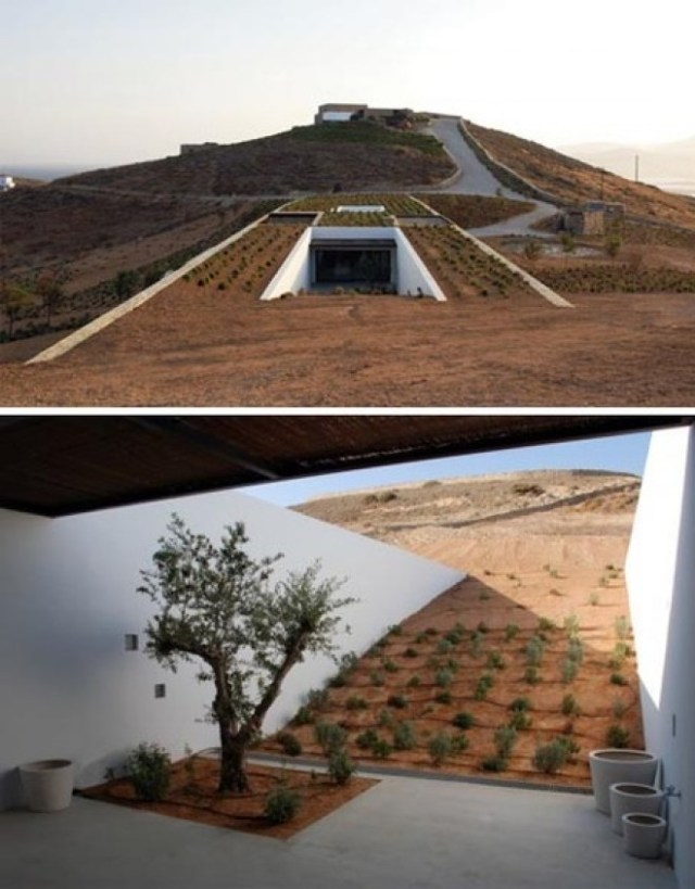 The Desert House in Greece for Underground Home Designs