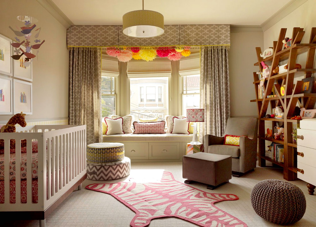 Bright Color for Creative Ideas for a Beautiful and Unique Baby Room Design