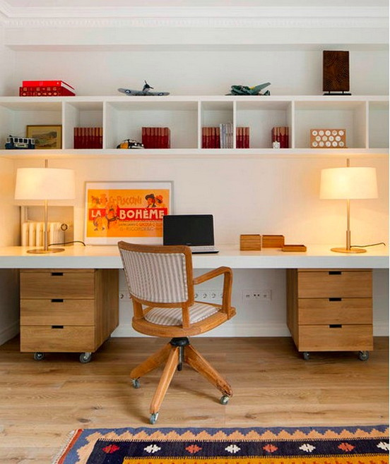 Unique And Comfortable Home Office Design Ideas (195)