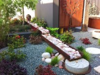 Zen Dry Garden With Stone And Flower Pot For Beautiful And Charming Indoor Garden Designs