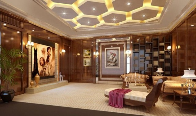 Golden Light for Luxury Family Room