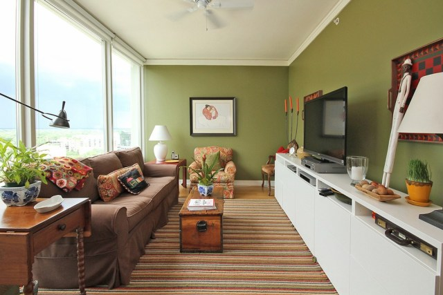 Circulation Area for Elongate Living Room
