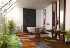 Garden in The Bathroom for Natural Style Home