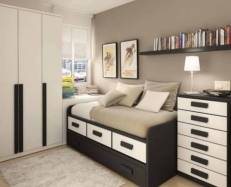 Drawer for Bedroom Design with Narrow Space