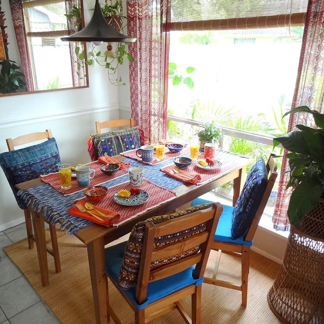 Lighting for Small Bohemian Style Dining Room Design