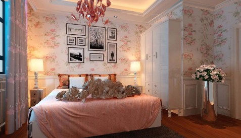 Wallpaper for Romantic Bedroom Decorating Ideas