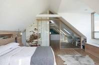 A Glass Sliding Door And Partition Enclose The Master Bedroom Without Compromising The View Through The Attic Space