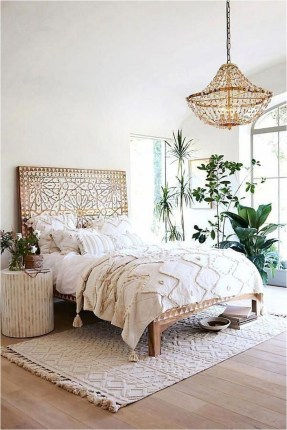 All White Mediterranean Bedroom With
