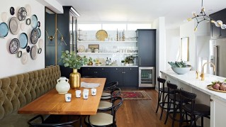 An Open Space Kitchen With Eclectic Style
